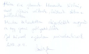 Details from visitors' book